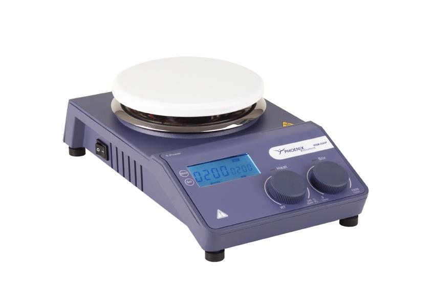 Phoenix RSM-02 HS+,digital,  Magnetrührer mit Heizung, Edelstahl